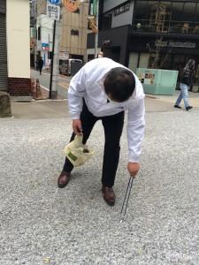 清掃活動の様子